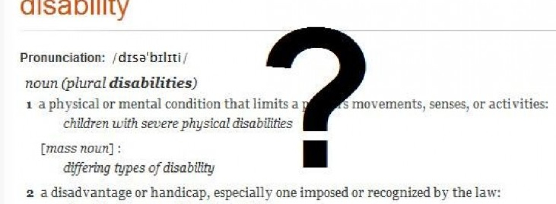 Whats that disability whats that biocorpaavc