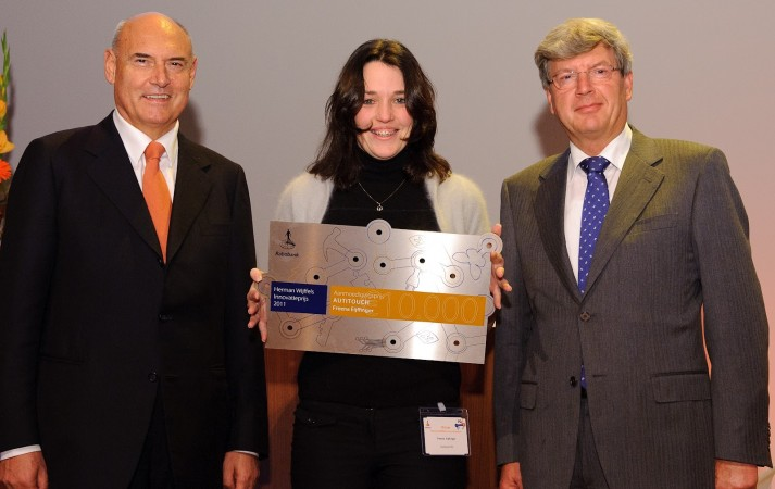 Freena winning an innovation prize