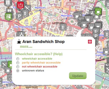 Wheelmap - accessible travel