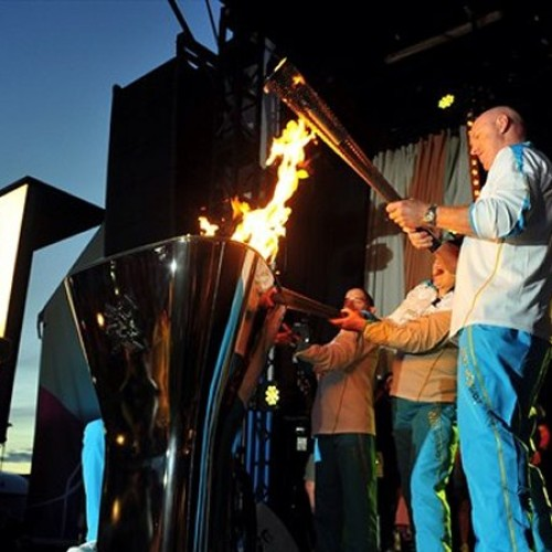 Carrying the Paralympic Flame to victory