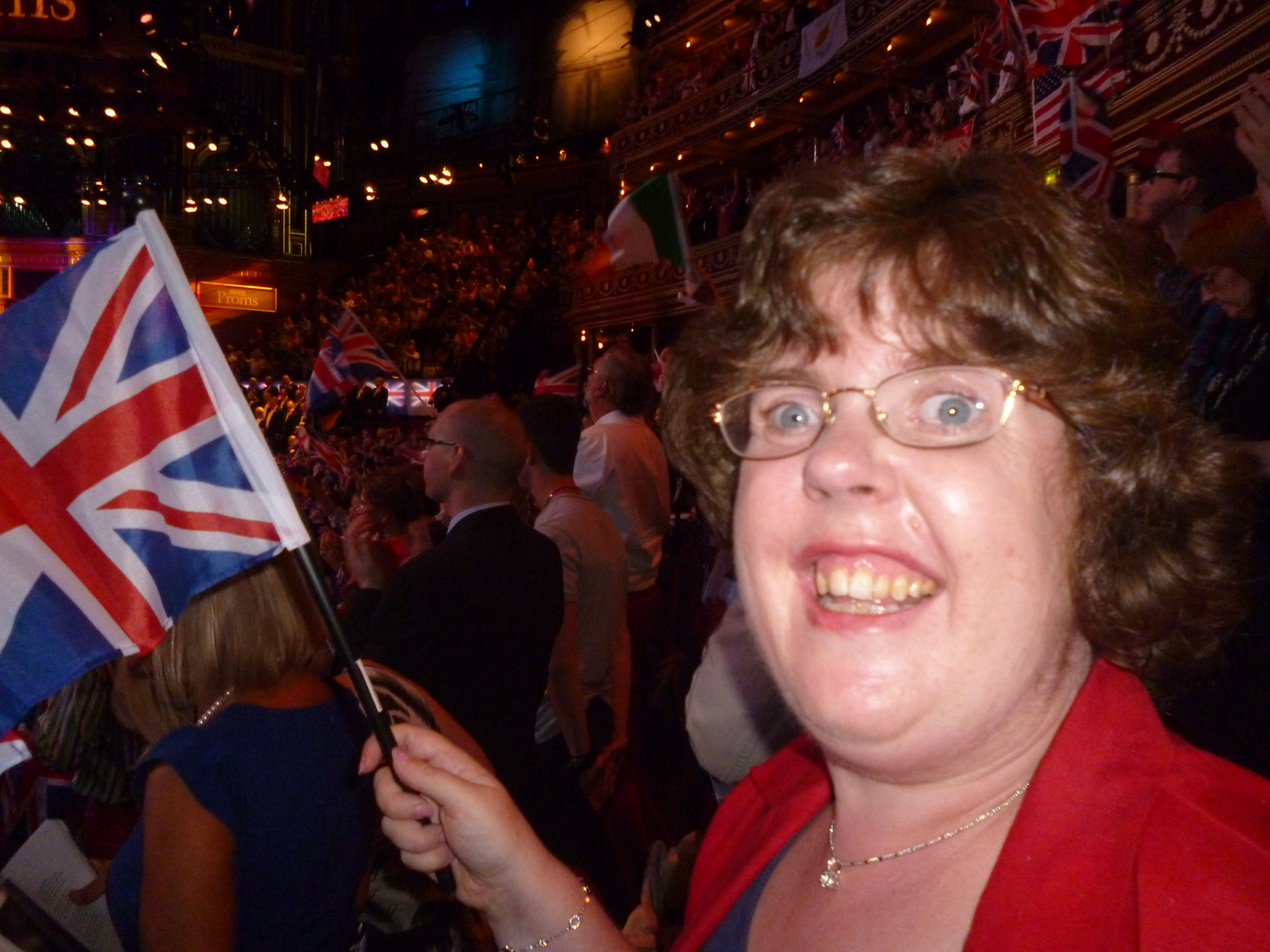Kate Bennell at Last night of Proms