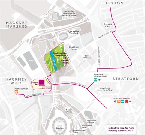 Queen Elizabeth Olympic Park - parkmap