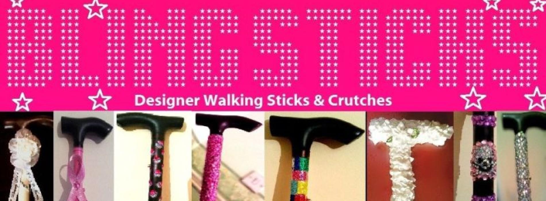 Blingsticks: designer walking sticks