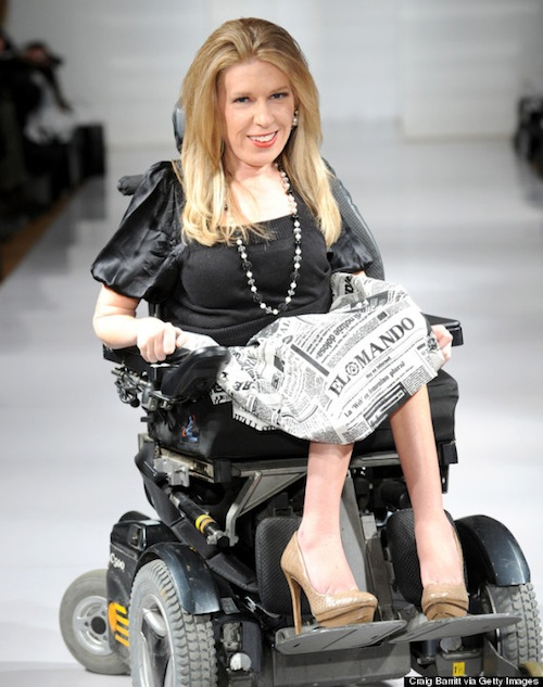 danielle-sheypuk - disabled model -New York Fashion week