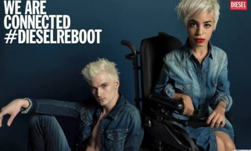 Jillian Mercado in Diesel advertisement