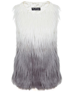 Miss Selfridge - Dip Dye Gilet - £55.00