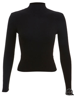Miss Selfridge - Black Ribbed Roll Neck - £25.00