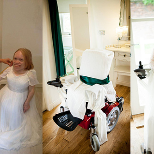 Wedding in a wheelchair