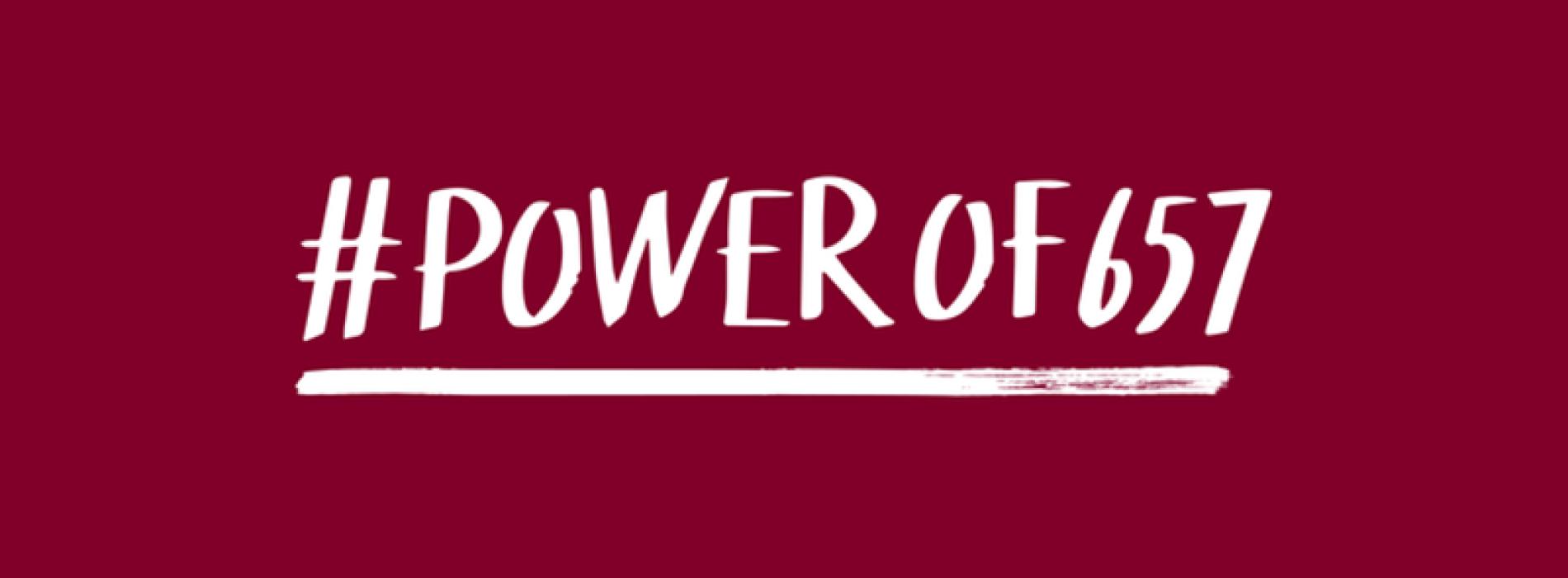 #powerof657 campaign
