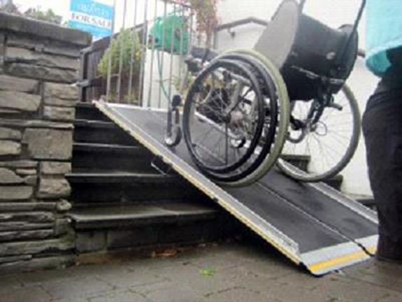 wheelchair and ramp