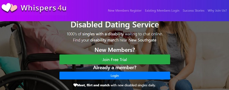 Disabled dating site Whispers4U