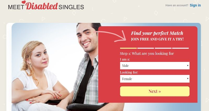 Free dating sites for disabled people
