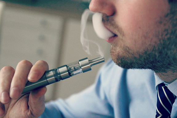 Vaping nicotine and electronic cigarette