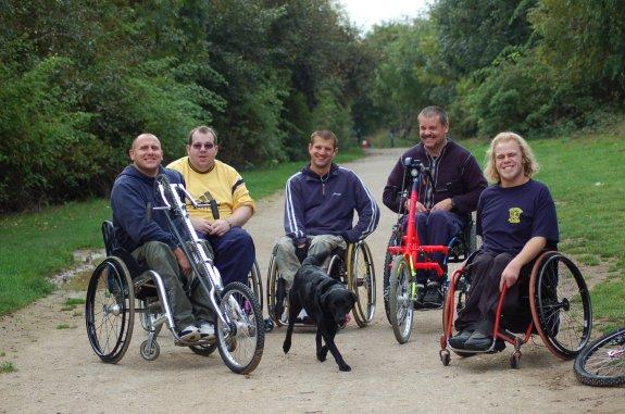 Wheelchair basketball Warwickshire Bears sponsored push