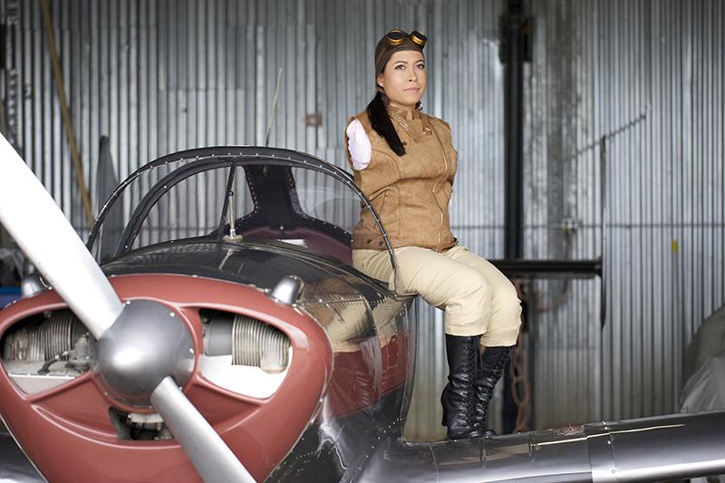 Jessica Cox -Ercoupe Airplane Aviatrix