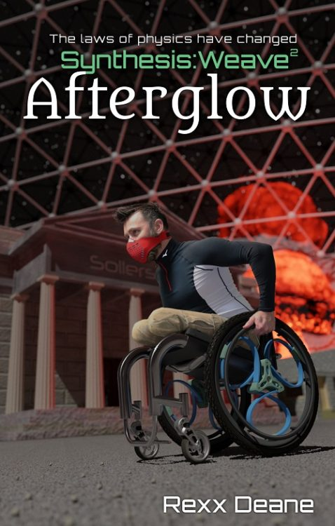 Cover of sci-fi book with wheelchair user as main character