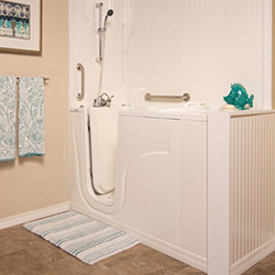 5.Walk-in bath shower