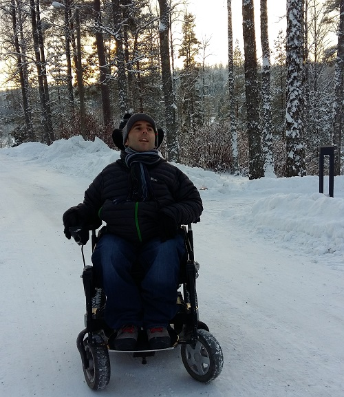 Martyn Sibley in Finland in the snow