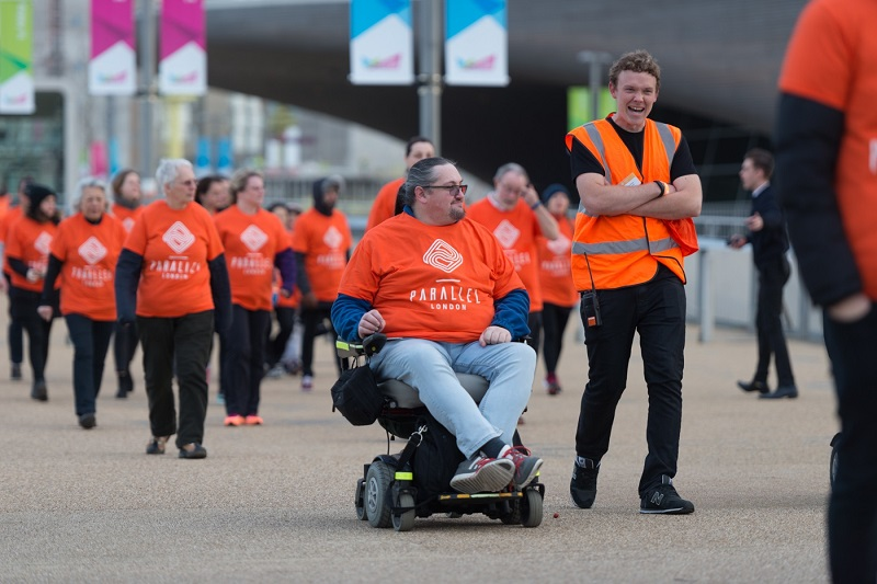 Parallel London disabled participants