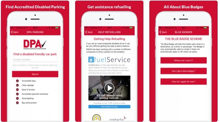 Disabled Motoring UK app