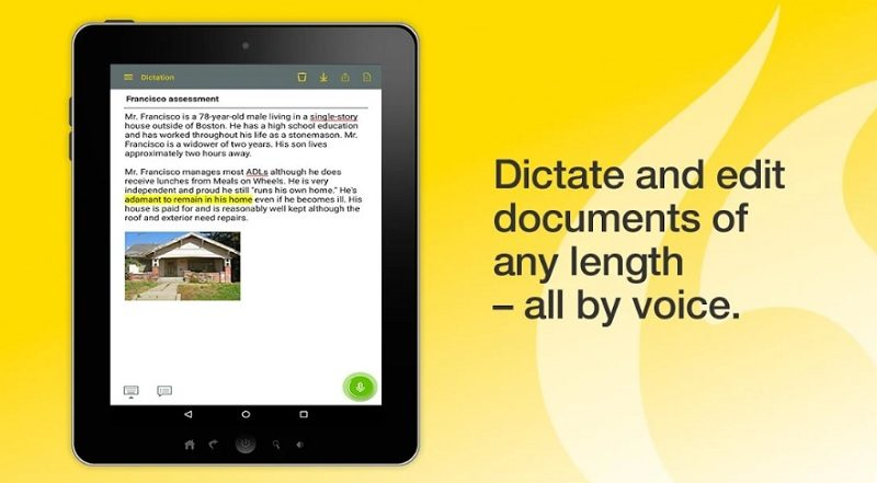 Dragon Anywhere dictation app