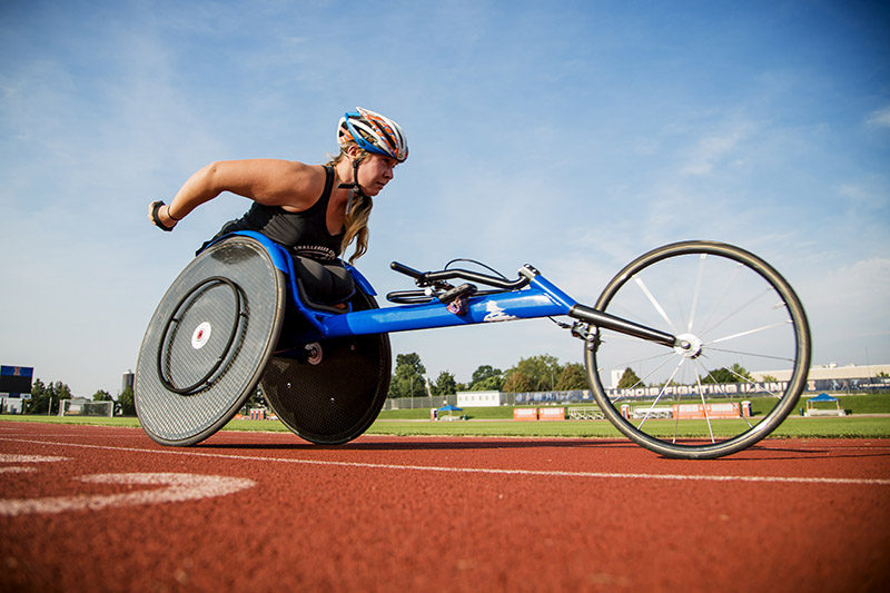Disabled athlete Arielle