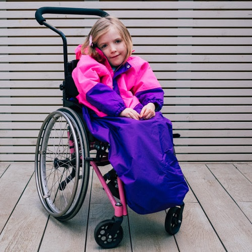 Willow Bug pink wheelchair cape
