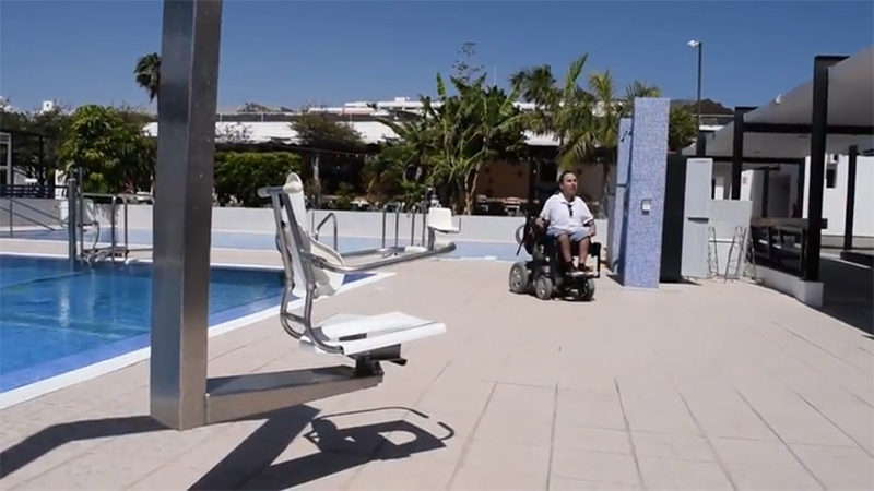 Martyn at rehabiliation centre Vintersol in Tenerife