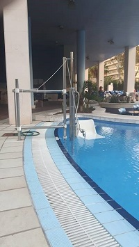 Hoist by accessible pool in Spain