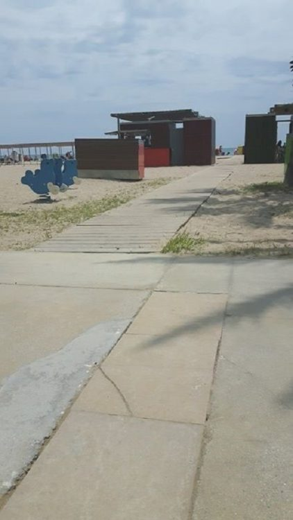 Salou accessible beach walkways Spain