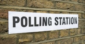Election 2017 polling station sign