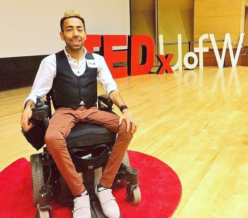 Amin Lakhani Dating Coach on Wheels at TED Talk