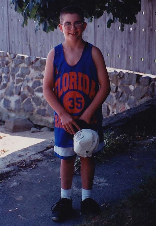 Christopher Reardon as a child