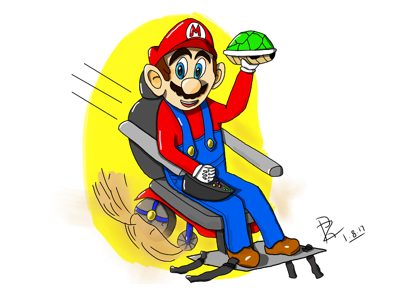 Disabled gaming illustration