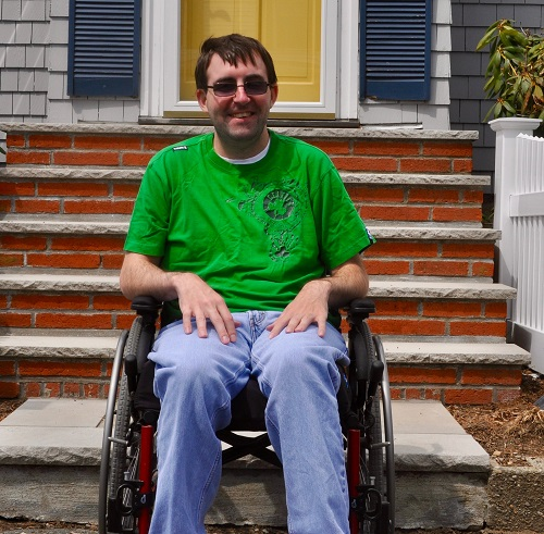 Disabled poet Christopher Reardon