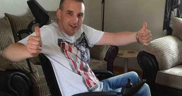 Disabled racing driver Christopher Carter