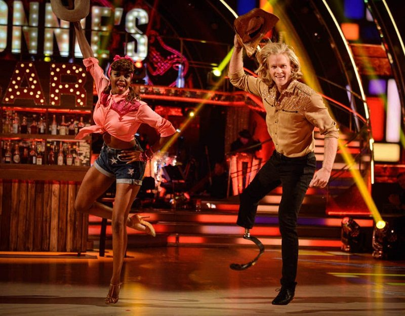Jonnie Peacock on Strictly Come Dancing with his blade