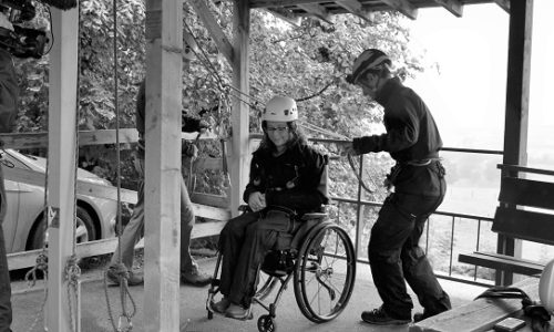 Disability and travel: wheelchair abseiling with the BBC