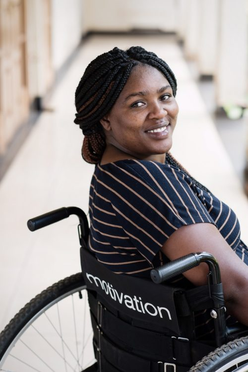 Salome in wheelchair from Motivation