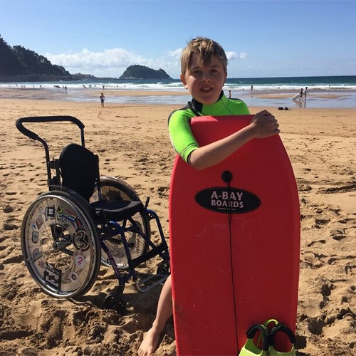 Handiscover CEO Sebastian's son on an accessible holiday