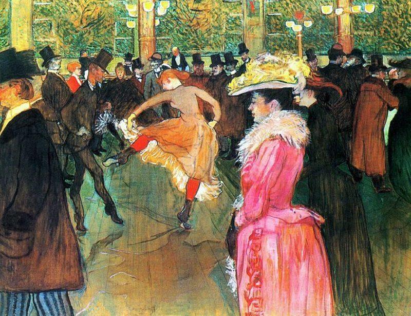 Henri De Toulouse painting The Dance
