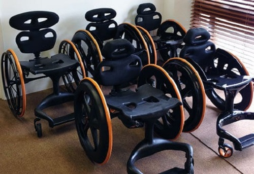 Multiplied carbon black wheelchairs