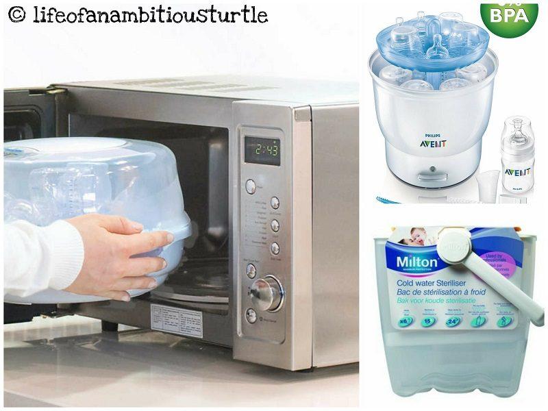 Bottle sterilisers