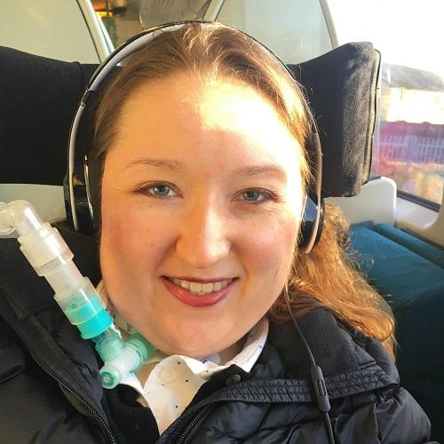 Emma Vogelmann with breathing aid