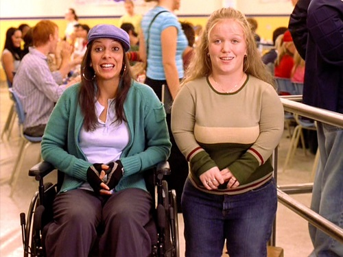 Wheelchair user Jessica Lopez from Mean Girls