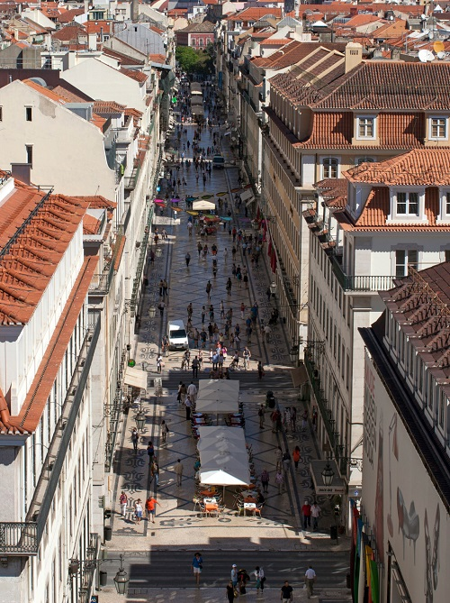 Rua Augusta accessible street in Lisbon
