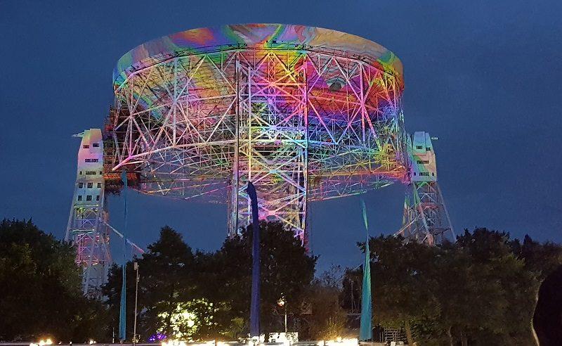 Bludot festival at night