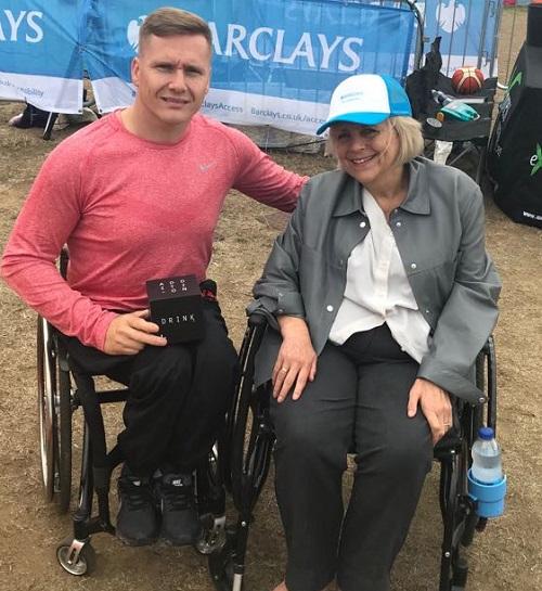 Fiona with Paralympian David Weir