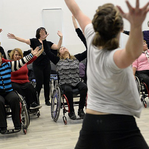 Wheelchair exercise: using Zumba to make fitness more inclusive
