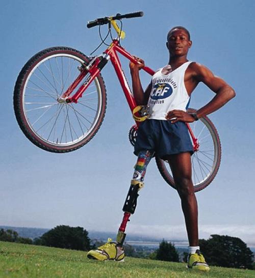 Disabled athlete Emmanuel Ofosu Yeboah